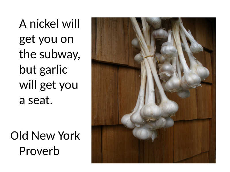 New York Proverb